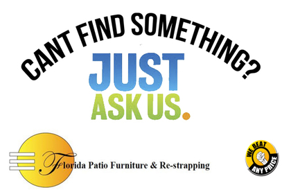 Florida Patio Furniture U0026 Re Strapping Offers Outdoor Furniture That Could  Very Easily Be Indoor Furniture! In Fact Several Of Our Customers Have  Purchased ...